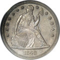 Proof Seated Dollars, 1848 $1 PR62 PCGS....
