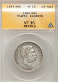Coins of Hawaii: , 1883 50C Hawaii Half Dollar--Cleaned--ANACS. VF35 Details. NGCCensus: (12/327). PCGS Population (25/495). Mintage: 700,000...