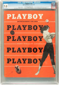 Magazines:Miscellaneous, Playboy #4 (HMH Publishing, 1954) CGC FN/VF 7.0 Off-white to whitepages....