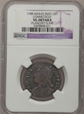 Colonials: , 1788 COPPER Connecticut Copper, Mailed Bust Left--PlanchetFlaw--NGC Details. VG. NGC Census: (0/12). PCGS Population (2/44...