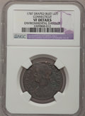Colonials: , 1787 COPPER Connecticut Copper, Draped Bust Left--EnvironmentalDamage--NGC Details. VF. NGC Census: (6/42). PCGS Populatio...