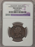 Colonials: , 1783 1C Washington & Independence Cent, Draped Bust, NoButton--Damaged--NGC Details. F. NGC Census: (0/24). PCGSPopulatio...