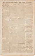 Autographs:Statesmen, [Congressional Act to Establish the Department of War.] Newspaper:Pennsylvania Packet, and Daily Advertiser. Four p...