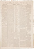 Autographs:Military Figures, [Indian Treaty with the Six Nations.] Newspaper: Dunlap andClaypoole's American Daily Advertiser (Philadelphia). ...