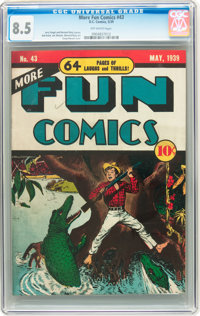 More Fun Comics #43 (DC, 1939) CGC VF+ 8.5 Off-white pages