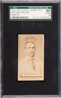 """Baseball Cards:Singles (Pre-1930), 1887 N172 Old Judge """"Spotted Tie"""" Jack Nelson SGC 80 EX/NM 6. ..."""