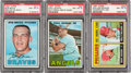 Baseball Cards:Lots, 1967 Topps Baseball High Grade Scarce Variations PSA-Graded Trio(3). ...