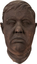 Movie/TV Memorabilia:Memorabilia, Charles Laughton Life Mask with Faux Bronze Finish....