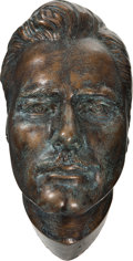 Movie/TV Memorabilia:Original Art, Errol Flynn Enhanced Life Mask....