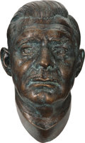 Movie/TV Memorabilia:Memorabilia, Clark Gable Bronze Finish Life Mask....