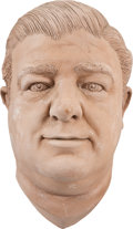 Movie/TV Memorabilia:Original Art, Lou Costello Enhanced Life Mask....