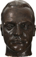 Movie/TV Memorabilia:Original Art, James Cagney Enhanced Life Mask....