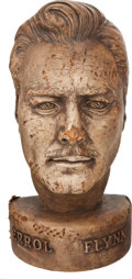 Movie/TV Memorabilia:Original Art, Errol Flynn Life-Sized Bust....