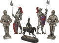 Movie/TV Memorabilia:Original Art, Bud Westmore's Medieval Knight Statues.... (Total: 5 )