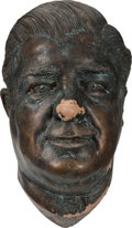 Movie/TV Memorabilia:Memorabilia, Lou Costello Faux Bronze Mask....