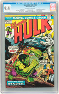 Bronze Age (1970-1979):Superhero, The Incredible Hulk #180 (Marvel, 1974) CGC NM 9.4 Off-white to white pages....