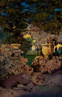 MAXFIELD PARRISH (American, 1870-1966) The Oaks, The Garden of Years and Other Poems, book illustration