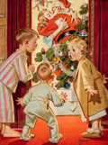 Paintings, JOSEPH CHRISTIAN LEYENDECKER (American, 1874-1951). American Weekly cover, December 19, 1948. Oil on canvas. 27.5 x 19.5...