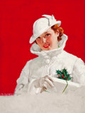 Mainstream Illustration, CHARLES EDWARD CHAMBERS (American, 1883-1941). Christmas GlamourGirl, Redbook magazine cover, December 1934. Oil on...