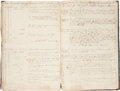 """Transportation:Nautical, Partial Log Book of the Leonidas, 1827-1828. Approximately 60 pages, 11"""" x 16.25"""", various locations in port and..."""