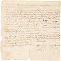 "Miscellaneous:Ephemera, Swansea Selectmen Town Orders. One page, 7.5"" x 7.5"",""Swanzey,"" April 30, 1725. Being a set of directives issuedto the... (Total: 1 Documents Item)"