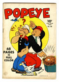 Golden Age (1938-1955):Cartoon Character, Four Color #26 Popeye (Dell, 1943) Condition: VG+....