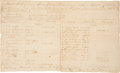 Autographs:Military Figures, Revolutionary War Muster Roll of Captain Thomas Theodore Bliss, Signed by Brigadier General James Clinton. One page, penned ...