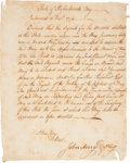 Autographs:Statesmen, Revolutionary War: Massachusetts Bay War Board Order to Appraise aPrivateer Brig, Signed by John Avery. One page, approxima...