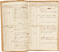 "Transportation:Nautical, Log Book of the Schooner Vulture, 1808. Sixteen pages, 8"" x12.5"", various locations at sea and at port, Novembe..."