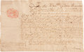 "Autographs:Statesmen, King George's War: Gideon Wanton Manuscript Document Signed asColonial Governor of Rhode Island. One page, 12.5"" x 7.75"", ..."