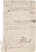 "Miscellaneous:Ephemera, [Early Fur Trade] Ledger Sheet from a Dutch Albany Merchant's Book,2 pages (recto and verso), 12.75"" x 8"", Albany, Circa 17..."
