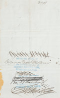 "Autographs:Celebrities, Brigham Young Document Signed as leader of the Mormon Church. Onepage, 8"" x 5"", Salt Lake City, July 12, 1874. This man... (Total: 2Items)"