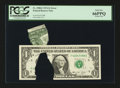 Error Notes:Printed Tears, Fr. 1908-F $1 1974 Federal Reserve Note. PCGS Gem New 66PPQ.. ...