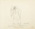 Mainstream Illustration, WALT DISNEY STUDIO (American, 20th Century). Witch from SnowWhite and the Seven Dwarfs, animation drawing, c. 1937. Pen...