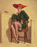 Mainstream Illustration, GIL ELVGREN (American, 1914-1980). The Verdict Was Wow!,1947. Oil on canvas. 30 x 24 in.. Signed lower right. ...