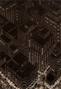 YVONNE JACQUETTE (American, b. 1934) Northwest view from Empire State Building, 1982 Lithograph 5