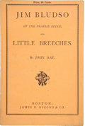 Books:First Editions, John Hay. Jim Bludso of the Prairie Belle, and LittleBreeches. With Illustrations by S. Eytinge, Jr. Boston: James...