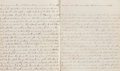 Miscellaneous:Ephemera, Indians in Minnesota Journal, circa 1860. Journal book containingthe recollections and stories of an unidentified pioneer, ...