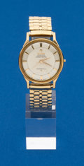 Timepieces:Wristwatch, Omega 14k Gold Constellation. ...
