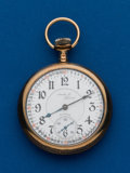 Timepieces:Pocket (post 1900), Illinois Santa Fe Special, Gold Filled, 17 Jewel. ...