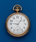 Timepieces:Pocket (post 1900), Hamilton Gold Filled, 21 Jewel, 992, 16 Size. ...