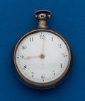 Timepieces:Pocket (pre 1900) , H. Harvey London, Verge Fusee, Silver Pair Case . ...