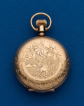 Timepieces:Pocket (post 1900), Elgin Six Size Gold Filled Hunters Case. ...
