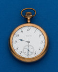 Timepieces:Pocket (post 1900), Elgin, 12 Size, 7 Jewel. ...