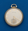 Timepieces:Pocket (post 1900), Hamilton, 21 Jewel, Grade 921. ...