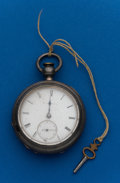 Timepieces:Pocket (pre 1900) , New York Watch Co. John Hancock Silver Key Wind. ...