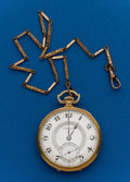 Timepieces:Pocket (post 1900), Hamilton, 12 Size, 17 Jewel 912 With Chain. ...