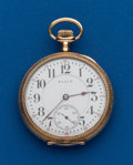Timepieces:Pocket (post 1900), Elgin, 16 Size, 21 Jewel Father Time. ...