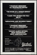 "Movie Posters:Comedy, Stardust Memories (United Artists, 1980). One Sheet (27"" X 41"") Review Style. Comedy.. ..."