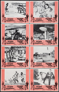 """Thunderball/You Only Live Twice Combo (United Artists, R-1971). Lobby Card Set of 8 (11"""" X 14""""). James Bond..."""